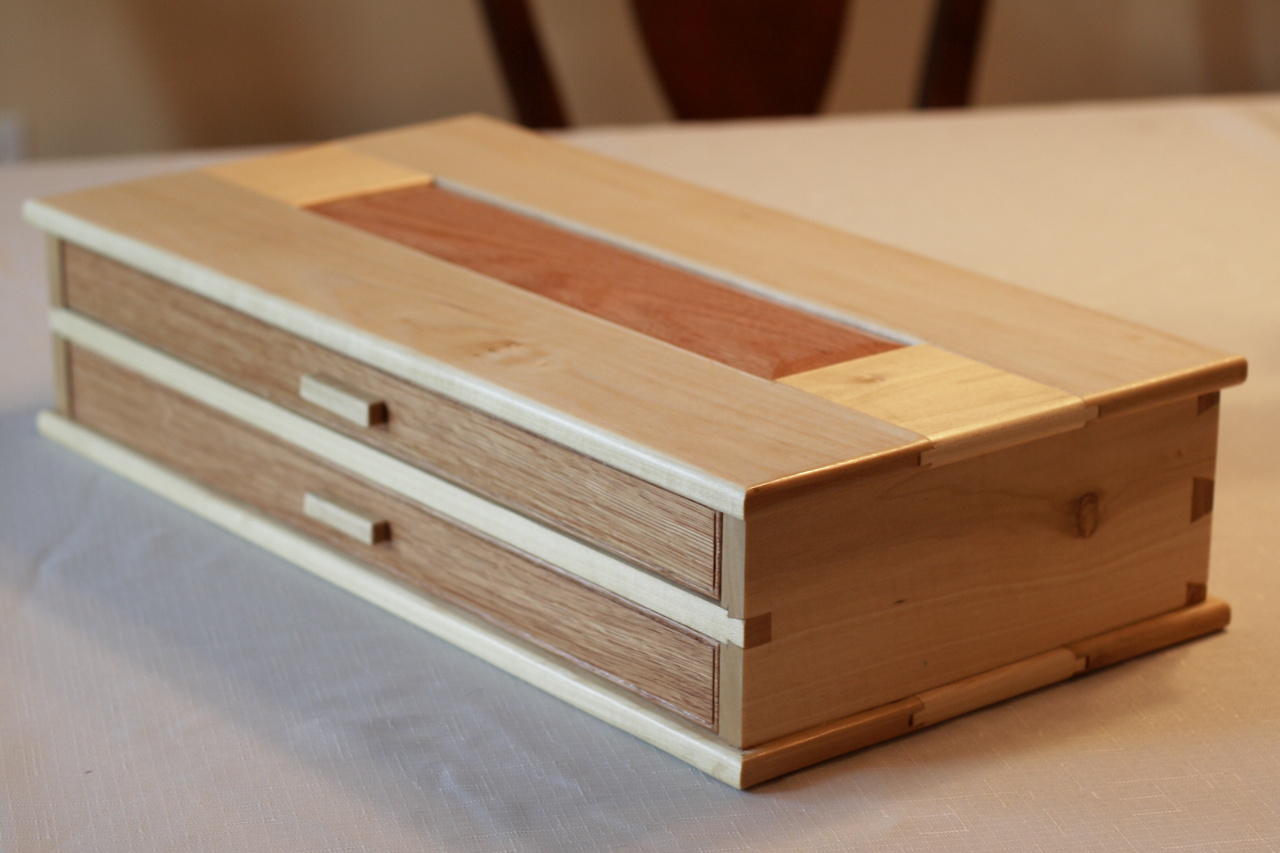 Wooden Pen Box