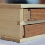 Wooden Pen Box Half-Blinds