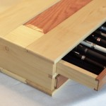 Wooden Pen Box Interior